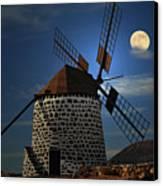 Windmill Against Sky Canvas Print by Ernie Watchorn