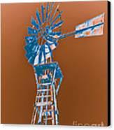 Windmill Blue Canvas Print by Rebecca Margraf