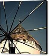 windmill Greece Canvas Print by Joana Kruse