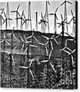 Windmills By Tehachapi  Canvas Print by Susanne Van Hulst