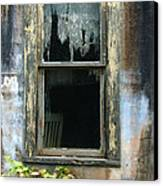 Window In Old Wall Canvas Print by Jill Battaglia