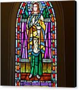 Window In Trinity Church V Canvas Print by Steven Ainsworth