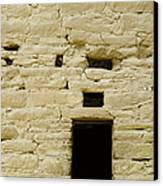 Window Opening In Old Brick Adobe Wall Canvas Print by Ned Frisk