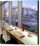 Window Seating In An Upscale Cafe Canvas Print