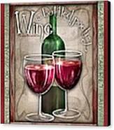 Wine Poetry Canvas Print