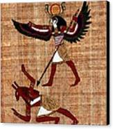 Winged Horus Defeating Set Canvas Print by Pet Serrano
