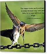 Wings Of Faith Canvas Print