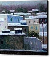 Winter Day In The City Canvas Print by Bob Richey
