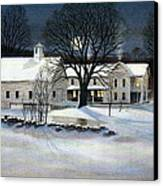 Winter Glow Canvas Print by Karol Wyckoff