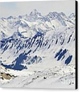 Winter In The Alps - Snow Covered Mountains Canvas Print