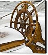 Winter On Board Canvas Print by Heiko Koehrer-Wagner