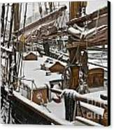 Winter On Deck Canvas Print