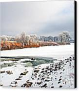 Winter Red River 2012 Canvas Print