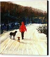 Winter Road Quebec Laurentian Landscape Canvas Print