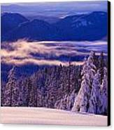 Winter Snow, Cascade Range, Oregon, Usa Canvas Print