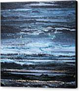 Winter Storms And Moonlight No1 Canvas Print by Mike   Bell