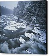 Winter View Of The Ausable River Canvas Print