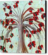 Winterblooms Canvas Print by Ayasha Loya