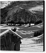 Wishing You A Merry Christmas Austria Europe Canvas Print