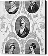 Wives Of Founding Fathers Canvas Print by Granger