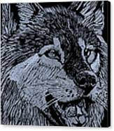 Wolfie Canvas Print by Jim Ross