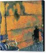 Woman And Shadows Canvas Print