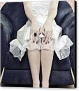 Woman On Chair Canvas Print by Joana Kruse