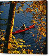 Woman Seakayaking On The Potomac River Canvas Print by Skip Brown