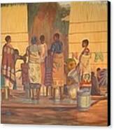 Women At Bolehole Canvas Print by Nisty Wizy