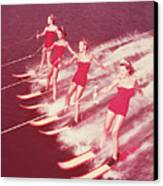 Women Water Skiing Parallel, 1950s Canvas Print by Archive Holdings Inc.