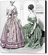 Womens Fashion, 1843 Canvas Print