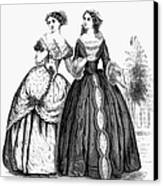 Womens Fashion, 1851 Canvas Print