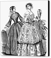 Womens Fashion, 1853 Canvas Print