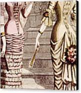 Womens Fashion, Circa 1880s Canvas Print by Everett