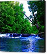 Wooded Waterfall Canvas Print by Bill Cannon