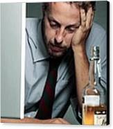 Work Stress Canvas Print
