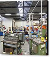 Workshop Full Of Machinery In A Factory Canvas Print