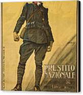 World War I, Poster Shows A Wounded Canvas Print by Everett