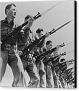 World War II, Bayonet Practice Canvas Print