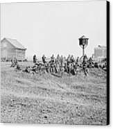 Wounded African-american Soldiers Canvas Print by Everett