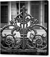 Wrought Iron Detail Canvas Print by Perry Webster
