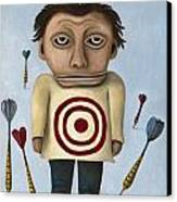 Wtf 2 No Words Canvas Print by Leah Saulnier The Painting Maniac