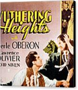 Wuthering Heights, Laurence Olivier Canvas Print by Everett