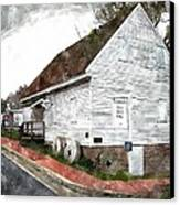 Wye Mill - Water Color Effect Canvas Print by Brian Wallace