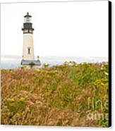 Yaquina Head Lighthouse In Oregon Canvas Print by Artist and Photographer Laura Wrede