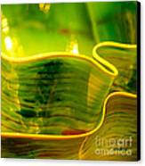 Yellow And Green Canvas Print by Artist and Photographer Laura Wrede