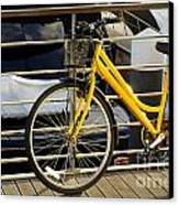 Yellow Bicycle Canvas Print by Carlos Caetano