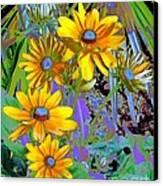 Yellow Daisies Canvas Print by Doris Wood