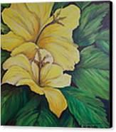 Yellow Diamonds Canvas Print by Janna Columbus