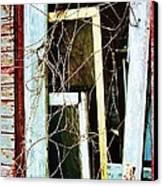 Yellow Door Canvas Print by Todd Sherlock